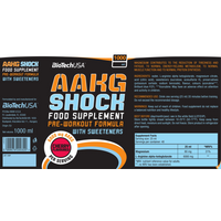 BioTech USA AAKG Shock Extreme - 1000ml - Orange