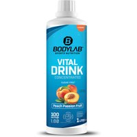 Bodylab24 Vital Drink Concentrated - 1000ml - Pfirsich-Passionsfrucht