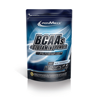 IronMaxx BCAAs + Glutamine Powder - 550g - Blue Raspberry