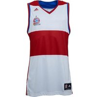 adidas Mens FCB Bayern Munich Away Replica Basketball Jersey White