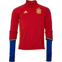 adidas Mens FEF Spain 3 Stripe ClimaCool Mock Neck Training Top Scarlet
