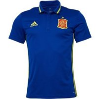 adidas Mens FEF Spain 3 Stripe ClimaLite Polo Collegiate Royal