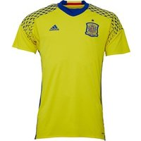 adidas Mens FEF Spain Away Goalkeeper Shirt Yellow