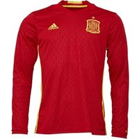 adidas Mens FEF Spain Long Sleeve Home Shirt Scarlet