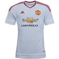 adidas Mens MUFC Manchester United Away Jersey White/Red