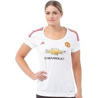 adidas Womens MUFC Manchester United Away Shirt White