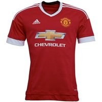 adidas Mens MUFC Manchester United Home Jersey Real Red/White/Black