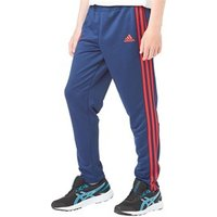 adidas Boys MUFC Manchester United 3 Stripe Poly Track Pants Dark Blue/Scarlet