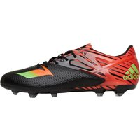 adidas Mens MESSI 15.2 FG / AG Football Boots Core Black/Solar Green/Solar Red