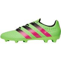 adidas Mens ACE 16.3 FG / AG Football Boots Solar Green/Shock Pink/Core Black