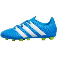 adidas Junior ACE 16.4 FxG Football Boots Shock Blue/White/Semi Solar Slime