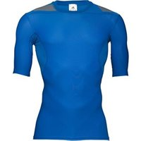adidas Mens TechFit Powerweb Compression ClimaCool Top Blue