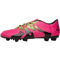 adidas Mens X 15.3 FG / AG Football Boots Shock Pink/Solar Green/Core Black