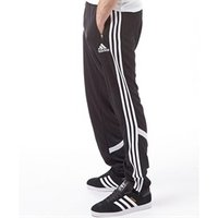 adidas Mens Condivo 14 3 Stripe ClimaCool Poly Training Pants Black/White