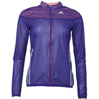 adidas Womens Adizero Climaproof Vented Running Jacket Night Flash