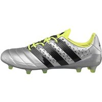 adidas Mens ACE 16.1 FG Leather Football Boots Silver Metallic/Core Black/Solar Yellow