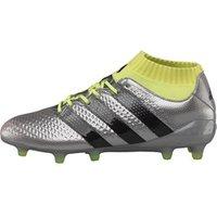 adidas Mens ACE 16.1 Primeknit FG Football Boots Silver Metallic/Core Black/Solar Yellow