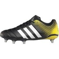 adidas Mens Adipower Kakari 3.0 Rugby Boots Core Black/White/Bright Yellow