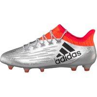 adidas Mens X 16.1 FG Football Boots Silver Metallic/Core Black/Solar Red