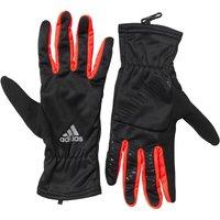 adidas Mens Run Climawarm Running Gloves Black/Reflective