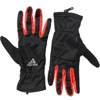 adidas Mens Run Climawarm Running Gloves Black/Reflective