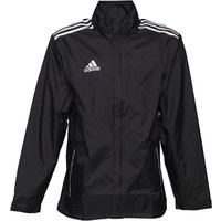adidas Mens Core 11 Rain Jacket Black/White