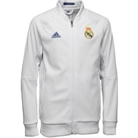 Adidas Junior Rmcf Real Madrid 3 Stripe Anthem Jacket White