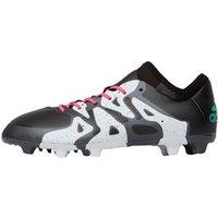 adidas Junior X 15.1 FG/AG Football Boots Core Black/Shock Mint/White