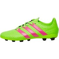 adidas Junior ACE 16.4 FxG Football Boots Solar Green/Shock Pink/Core Black