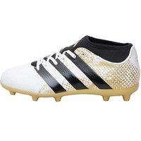 adidas Junior ACE 16.3 Primemesh FG Football Boots White/Core Black/Gold Metallic
