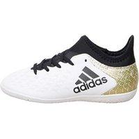 adidas Junior X 16.3 IN Indoor Football Boots White/Core Black/Gold Metallic