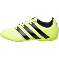 adidas Junior ACE 16.4 IN Indoor Football Boots Solar Yellow/Core Black/Silver Metallic