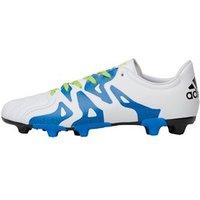 adidas Junior X 15.3 FG/AG Leather Football Boots White/Semi Solar Slime/Core Black