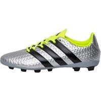 adidas Junior ACE 16.4 FxG Football Boots Silver Metallic/Core Black/Solar Yellow