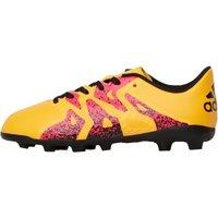 adidas Junior X 15.4 FxG Football Boots Solar Gold/Core Black/Shock Pink