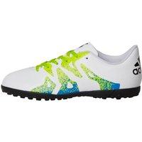adidas Junior X 15.4 TF Astro Football Boots White/Semi Solar Slime/Core Black