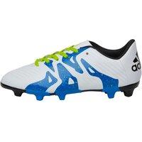 adidas Junior X 15.3 FG/AG Football Boots White/Core Black/Semi Solar Slime