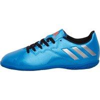 adidas Junior MESSI 16.4 IN Indoor Football Boots Shock Blue/Metallic Silver/Core Black