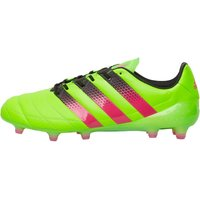 adidas Mens ACE 16.1 FG AG Leather Football Boots Solar Green/Shock Pink/Core Black