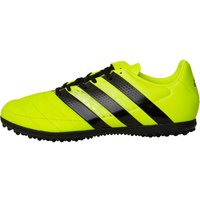 adidas Mens ACE 16.3 TF Astro Leather Football Boots Solar Yellow/Core Black/Silver Metallic