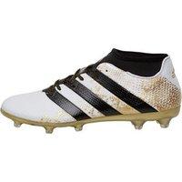 adidas Mens ACE 16.2 Primemesh FG Football Boots White/Core Black/Gold Metallic