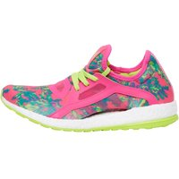 adidas Womens Pure Boost X Neutral Running Shoes Shock Pink/Shock Pink/Semi Solar Slime