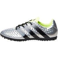 adidas Mens ACE 16.3 TF Astro Football Boots Silver Metallic/Core Black/Solar Yellow