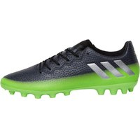 adidas Mens MESSI 16.3 AG Football Boots Dark Grey/Silver Metallic/Solar Green