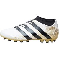 adidas Mens ACE 16.3 Primemesh AG Football Boots White/Core Black/Gold Metallic