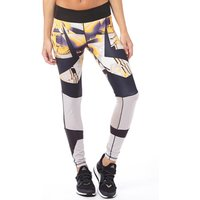 adidas Womens WOW Printed ClimaLite Running Tight Leggings Multicolour/Black