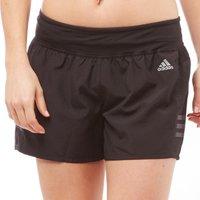 adidas Womens Response 3 Stripe Running Shorts Black/Utility Black