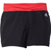 adidas Womens Response 3 Stripe Running Shorts Black/Ray Red