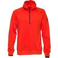 adidas Mens Climaheat Half Zip Hoody Bold Orange