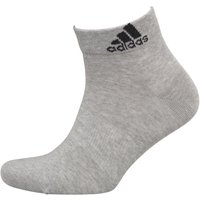 adidas Performance Thin Ankle Socks Medium Grey Heather/Medium Grey Heather/Black